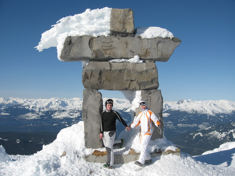 Symbol of Olympics at Whistler Peak