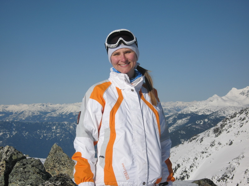 Lucie at Blackcomb
