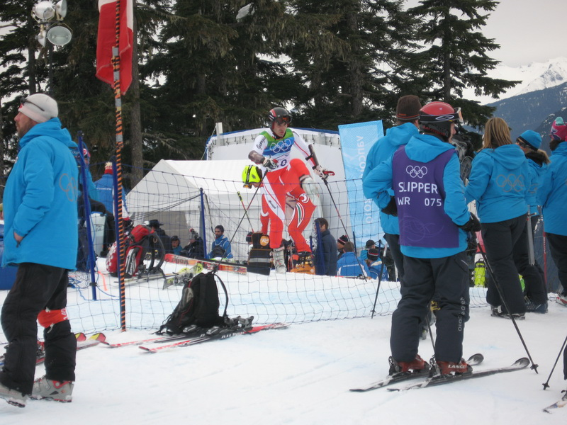 Czech skier at GS start