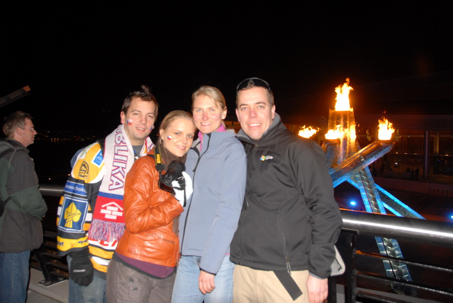 Michal, Klara, Lucie and Tomas + Olympic Flame