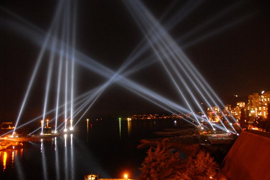 Vancouver 2010 light show