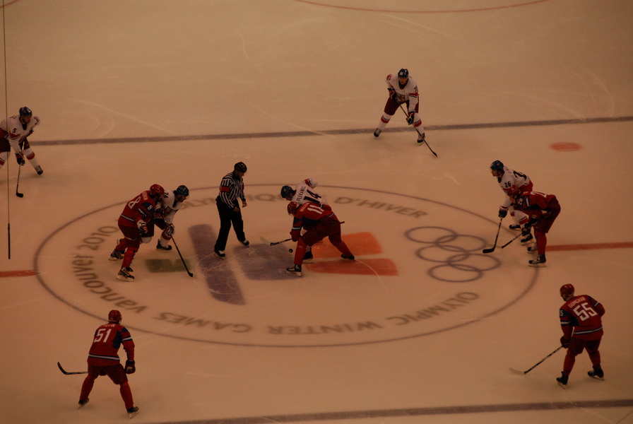 Czech against Russia faceoff