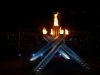 Olympic Flame at night