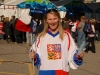 Lucie with Czech - Russia hockey tickets