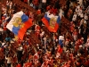 Russian fans with huuuge flags